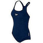 Speedo Girls End+ Medallist 1 Piece Swimming Bathing Suit - Navy