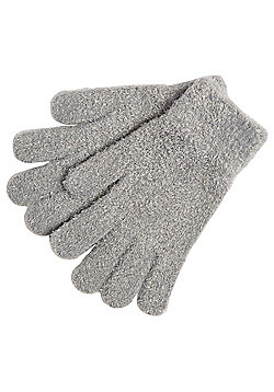 F&F Eyelash Knit Magic Gloves - Grey