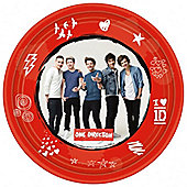 One Direction Plates - 23cm 1D Paper Party Plates - 8 Pack