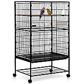 Milo & Misty 2 Tier Large Metal Aviary Bird Cage