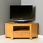 Poldark Corner TV Stand - Light Oak