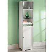 Wooden White Tall Boy Free Standing Bathroom Storage Cabinet Unit