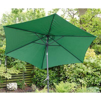 Henley 3m Crank And Tilt Garden Parasol Green