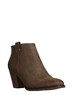 F&F Western Ankle Boots - Taupe