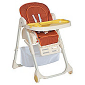 Homcom Baby Highchair Feeding Seat Toddler Adjustable Recline 108H - Orange