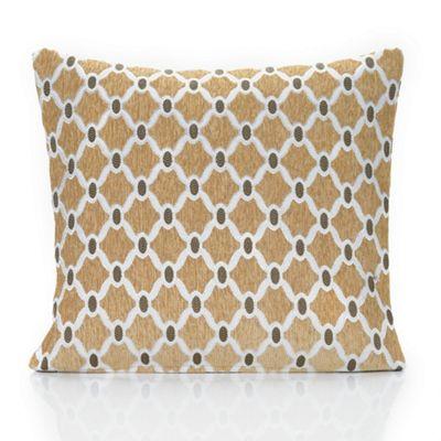 Berkeley chenille fabric cushion cover - gold - 18x18