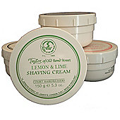 Taylor of Old Bond St Shaving Cream Lemon and Lime Tub 150g