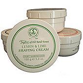 Taylor of Old Bond St Shaving Cream Lemon and Lime Tub 150g