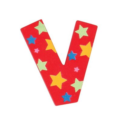 Bigjigs Toys Star Letter V (Red)