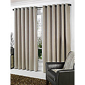 Stella Lined Eyelet Ready Made Curtains Beige 66x72