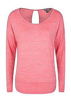 Mountain Warehouse Navasana Wrap Womens Tshirt with Anti-bacterial and IsoCool - Pink
