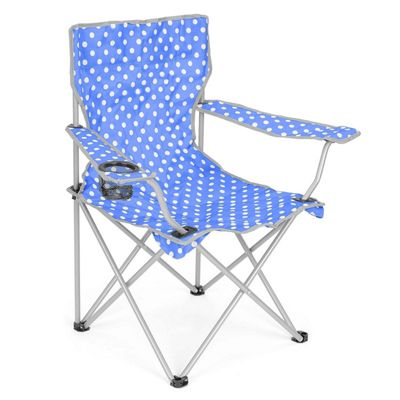 Trail Polka Dot Folding Festival Chair - Light Blue