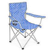 Trail Polka Dot Folding Festival Chair - Light Blue