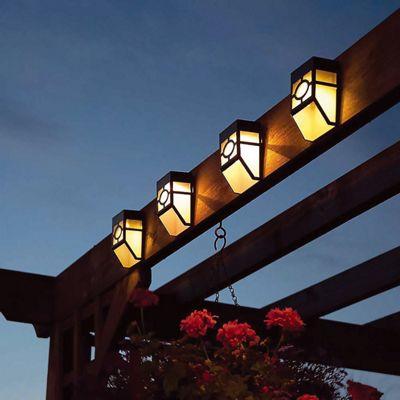 12 x Decorative Wireless Garden Solar Lights Weatherproof Outdoor Fence Lamps