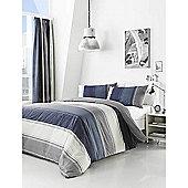 Fusion Betley Blue Duvet Cover Set - Blue