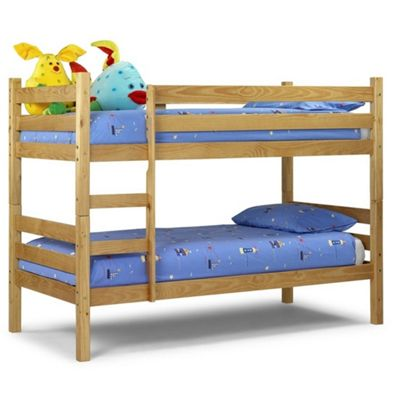 Solid Pine Bunk Bed 2 x Single - 3ft (90cm)