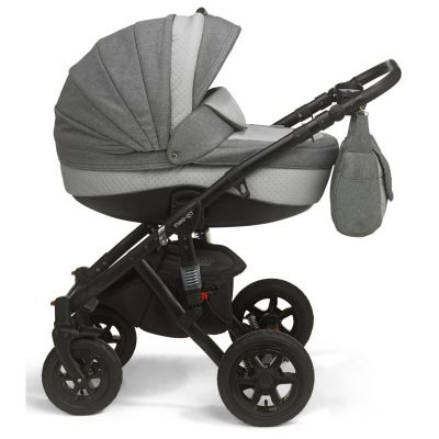 Mee-Go Milano Sport Chassis Pushchair-Dove Grey (Black Chassis)