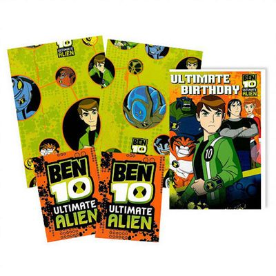 Ben 10 Wrapping Paper, Birthday Card and Gift Tags Pack