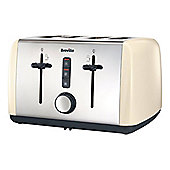 Breville VTT760 4 Slice Toaster with Variable Browning Control and in Cream