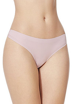 F&F Bonded Lace Back No VPL Brazilian Briefs - Blush pink