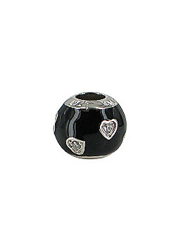 Chrysalis Sweetheart Slide On Bead - Black