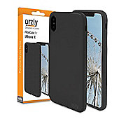 Orzly Flexi Case Cover for iPhone X - Black