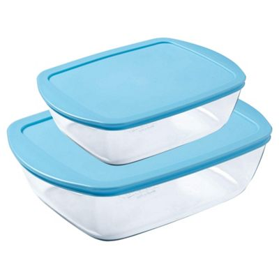 Pyrex Cook and Store 2 piece- Light Blue