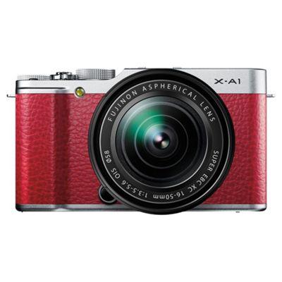 Fujifilm X-A1 Digital Camera, Red, 16MP, 3