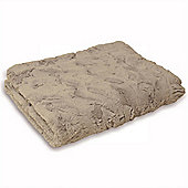 Riva Home Chinchilla Latte Throw - 140x200cm
