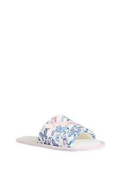 F&F Butterfly Slider Slippers - Cream/Multi