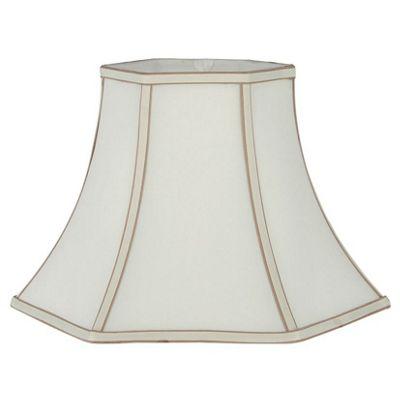 30cm Classic Lamp Shade Cream Polysilk Bowed Hexagon Shade
