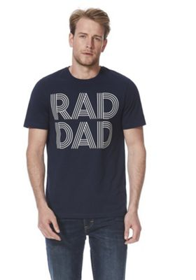 F&F Rad Dad Short Sleeve T-Shirt Navy 4XL