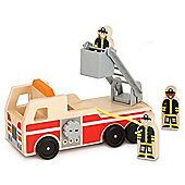 Melissa and Doug Wooden Fire Truck Play Set