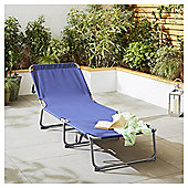 Navy Folding Sun Lounger