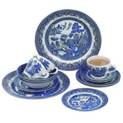 Churchill Blue Willow Dinner Set (20 Piece)