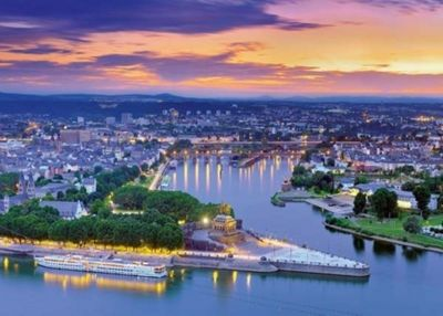 The Rhine and the Moselle Koblenz - 1000pc Puzzle