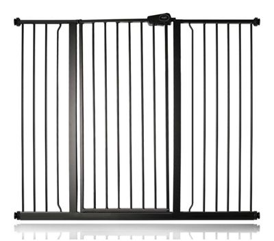 Safetots Extra Tall Matt Black Pet Gate 126.7cm - 134.3cm