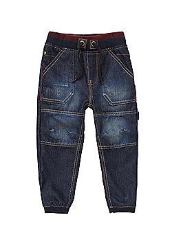 Pumpkin Patch Rib Waist Jeans - Dark wash