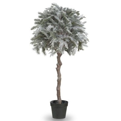 152cm Flocked Ball Pine Artificial Christmas Tree