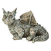 Stone Look Polyresin Dragon Gargoyle Garden Statue Ornament