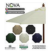 Nova 3m Round Natural Wooden Garden Parasol