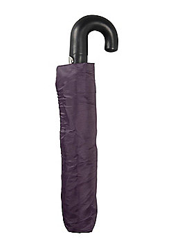 Mountain Warehouse Umbrellas 100% Polyester with Plastic Crook Handle - Red