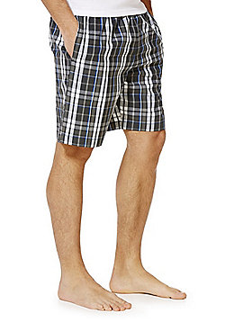 F&F Checked Woven Lounge Shorts - Grey