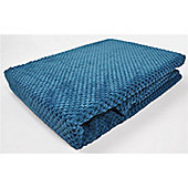 Mason Grey Chenille Spot Teal Throw - 180x125cm