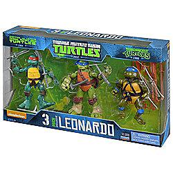 Teenage Mutant Ninja Turtles Leonardo 3 pack Action Figures