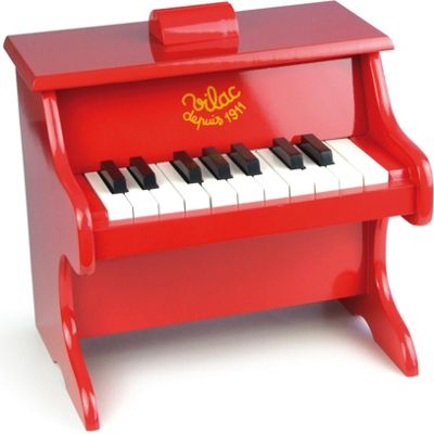Vilac Red Piano With Scores Musical Toy