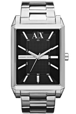 Armani Exchange Gents Silver Tone Bracelet Watch AX2110