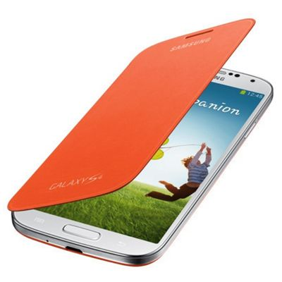 Samsung Original Flip Case for Samsung Galaxy S4 - Orange