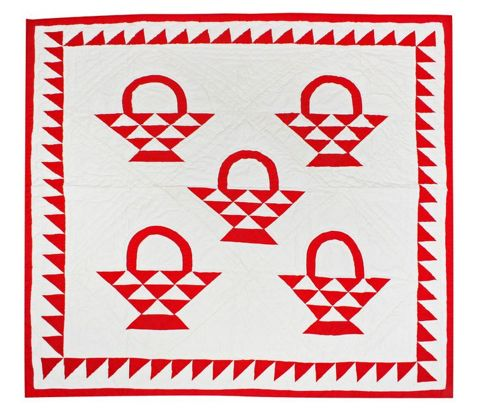 Woven Magic Country Basket-Red Crib Throw