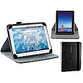 """Navitech Black Faux Leather Case Cover With 360 Rotational Stand for the Acer Iconia One B3-A40 10"""""""